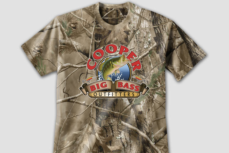 Personalized Big Bass Outfitters Camo Apparel