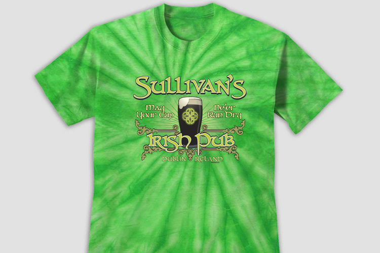 Personalized Classic Irish Pub Shirts in Tie Dye!