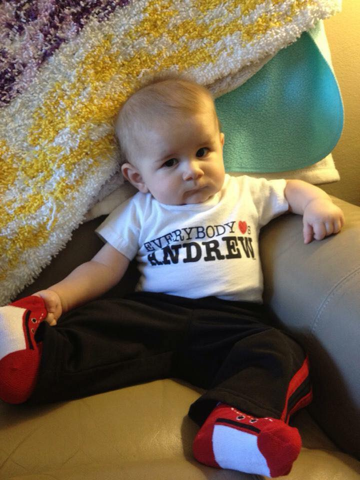Andrew Featuring An InkPixi Custom Baby Bodysuit