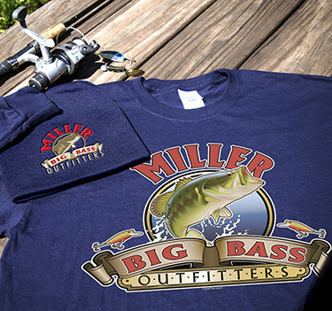 Personalized Big Bass Outfitters Apparel Design #A447