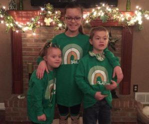 Cute Kiddos in Personalized Irish Rainbow Shirts