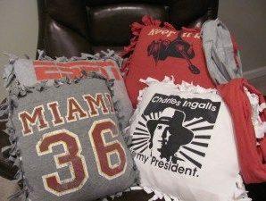 Don't Throw Away Your Shirt – Make a T-Shirt Pillow!