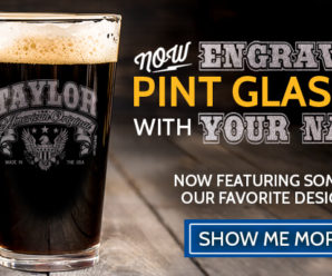 Now Available – Engraved Custom Pint Glasses