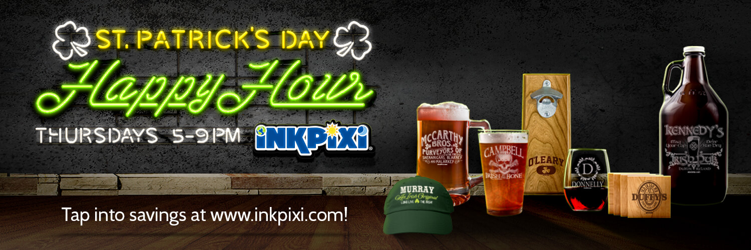 Get Your Personalized Gifts During Happy Hour!