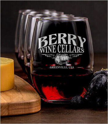 wine cellars custom wine glasses