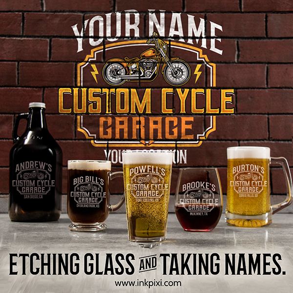 personalized gifts with custom cycle garage design #A627