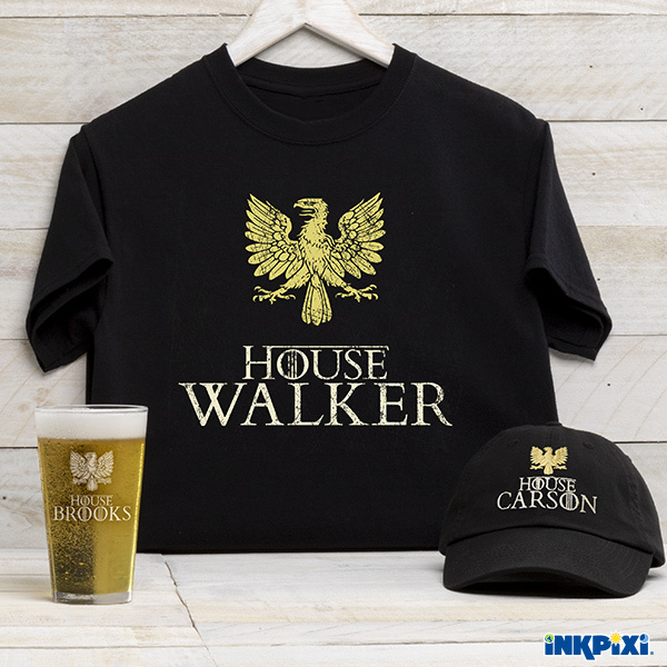 House personalized shirts, hats, and more