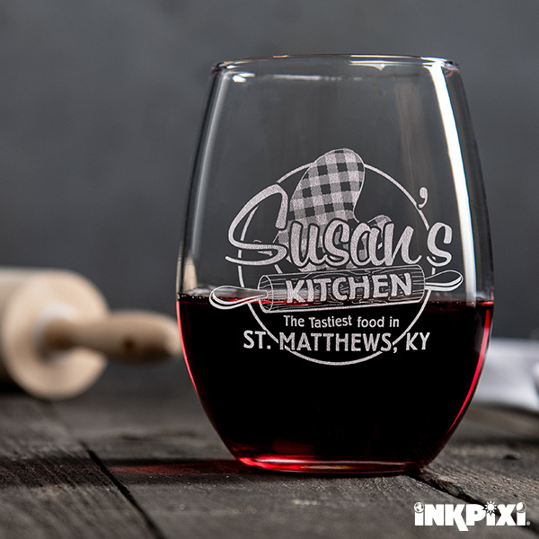 custom wine glasses for mother's day
