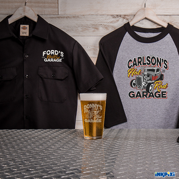 Hot Rod Garage Personalized Shirts, Pints, and More