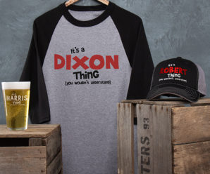 Personalized Shirts, Hats, Pint, & More In Your Fave Design