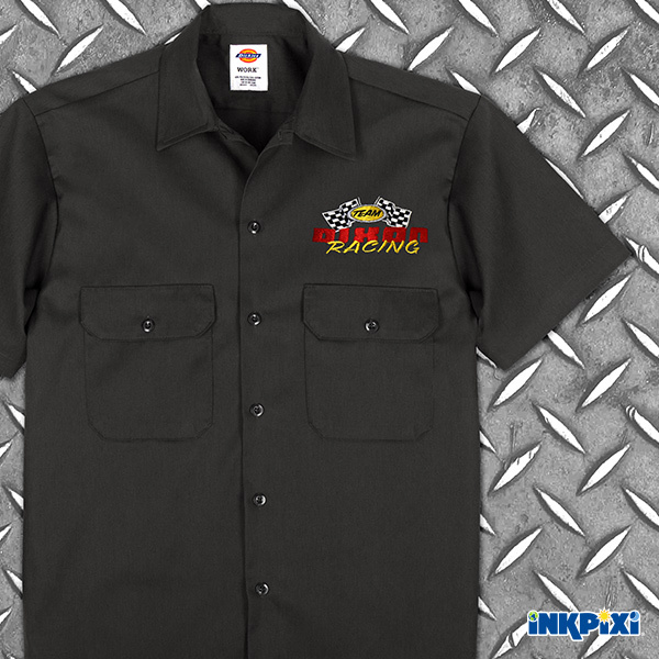 racing team personalized work shirt