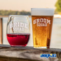 Wedding Fun With Custom Pint Glasses & Wine Glasses