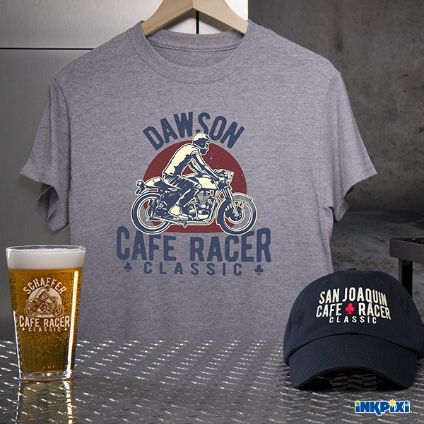 Cafe Racer Personalized Shirts, Hats, and More