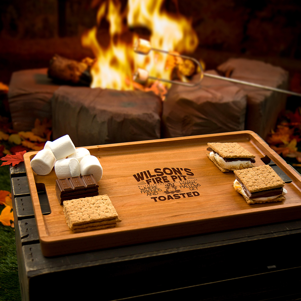 Fire Pit Custom Serving Tray