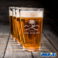 Custom Pint Glasses For The Sea Rover