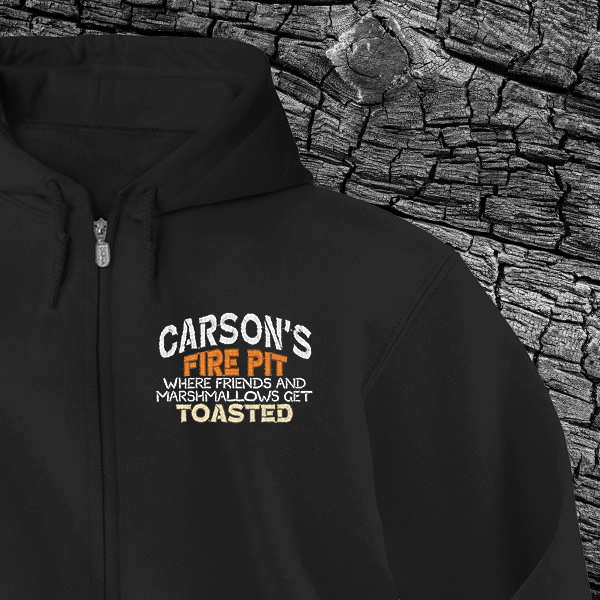 Fire Pit Full-Zip Custom Hoodies