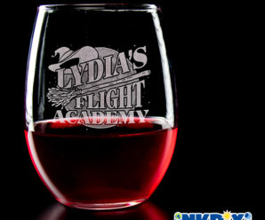 Flight Academy Custom Wine Glasses