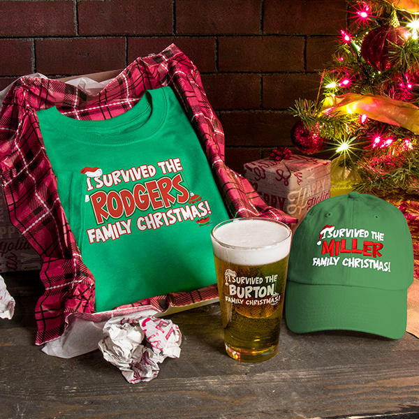 I Survived Christmas personalized gifts.