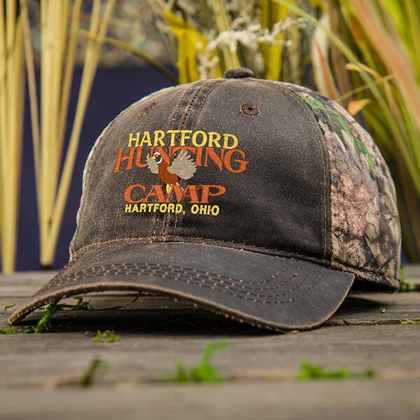 Pheasant Hunting Camp Two-Tone Custom Hats
