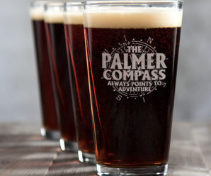 Compass Custom Pint Glasses