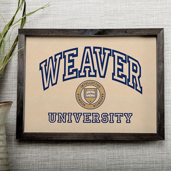 University Custom Wall Art