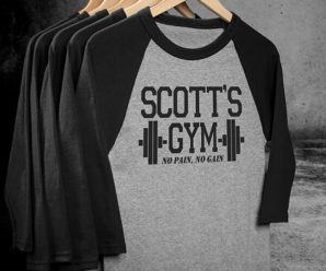 Train In Gym Personalized Shirts