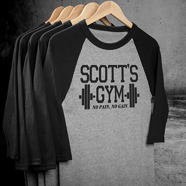 Gym Raglan Personalized Shirts Design #B129