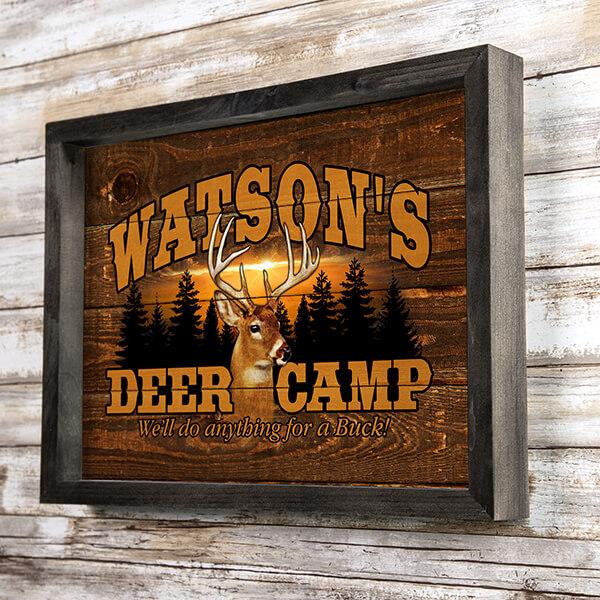 Deer Camp Custom Wall Art Design #A516