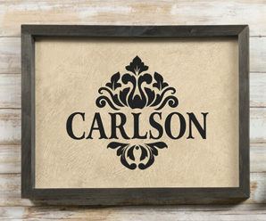 Classic Filigree Custom Wall Art