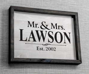 Mr. and Mrs. Custom Wall Art