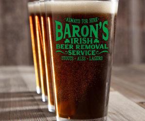 Add Irish Cheer With Custom Pint Glasses!