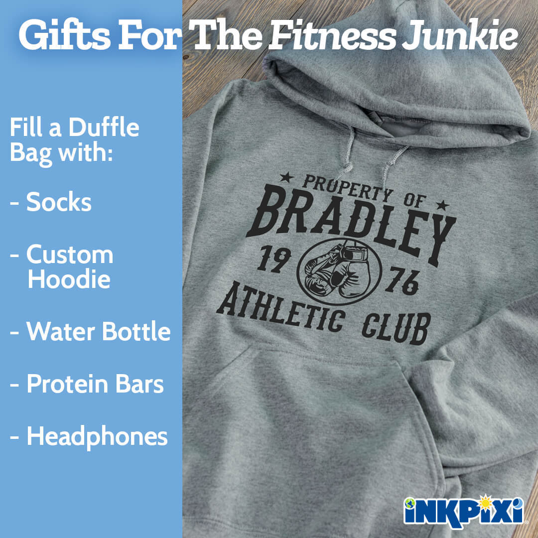Custom hoodies are ideal gifts for fitness fanatics